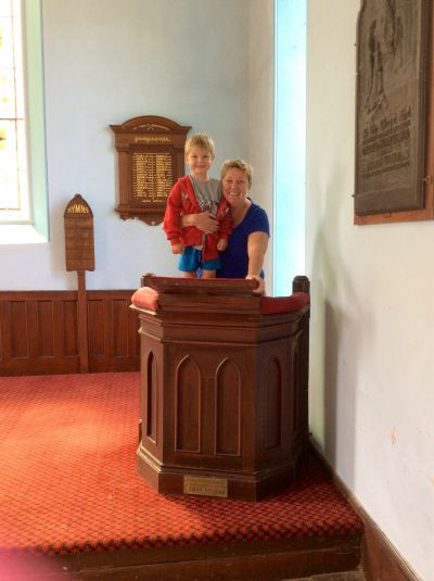 Nicole and Jack inside The Church when it was first purchased